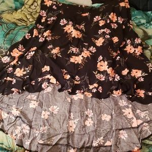 NWO High low floral skirt